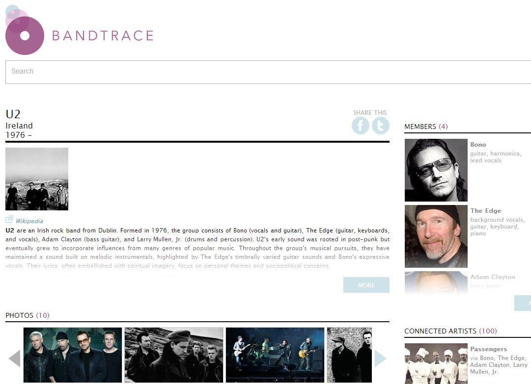 bandtrace, un nuevo proyecto para amantes de la música