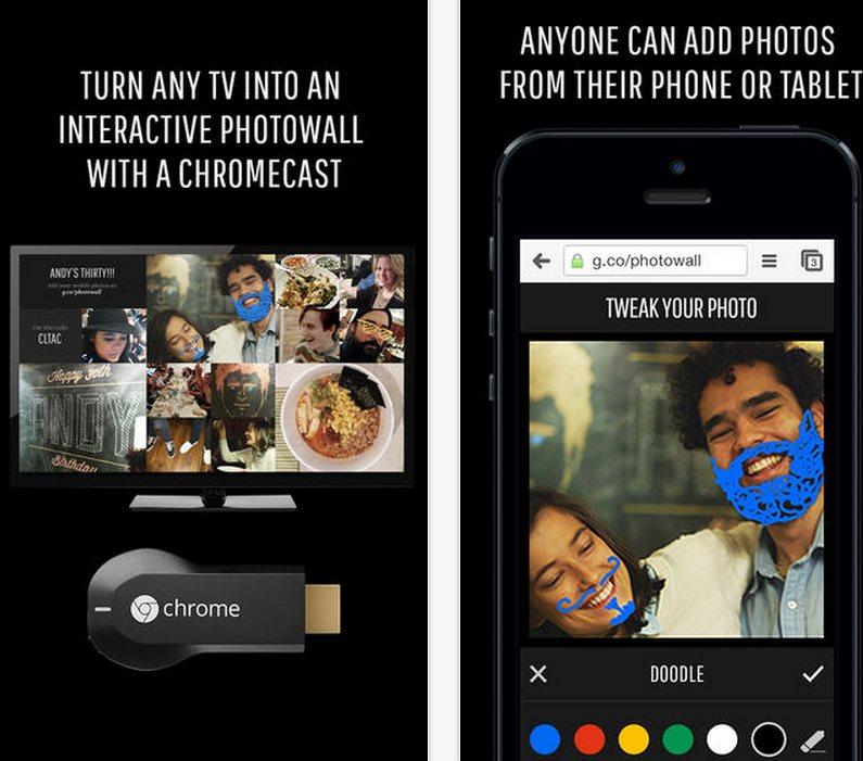 Google lanza Photowall para móviles, aplicación para ver fotos y hacer montajes en ChromeCast
