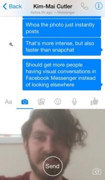 2 snapchat facebook messenger fotos videos