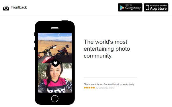 Frontback, aplicación fotográfica móvil que combina imágenes de ambas cámaras, ya en Android