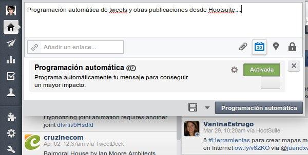 hootsuite programar mensajes
