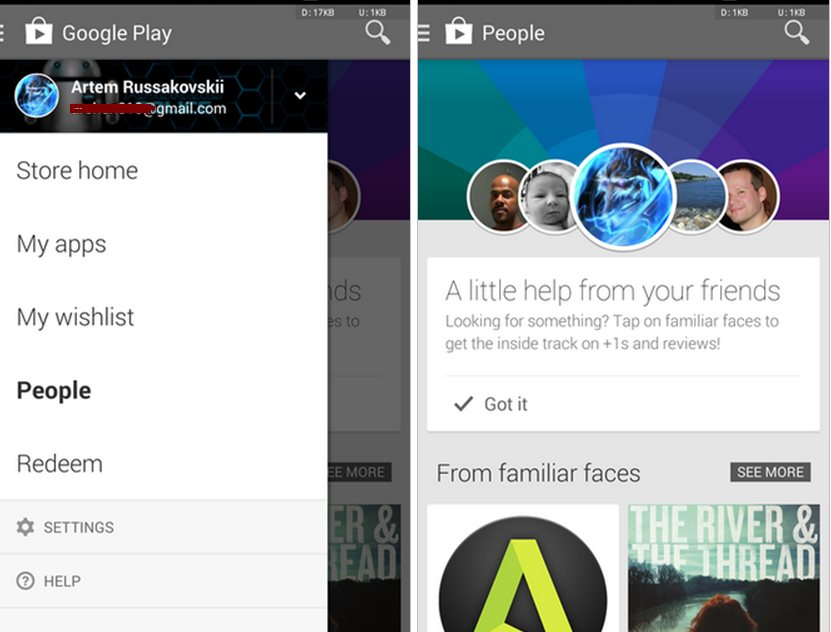 """Nueva sección """"Personas"""" aparece en Google Play, para ver lo que instalan tus contactos"""