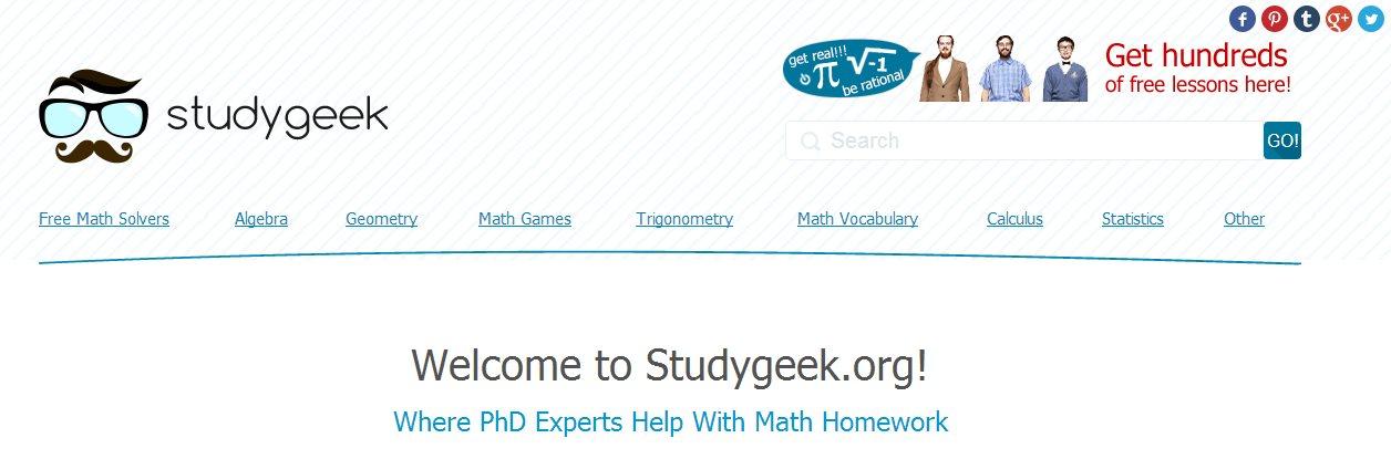 StudyGeek, ayuda online para hacer deberes de matemáticas