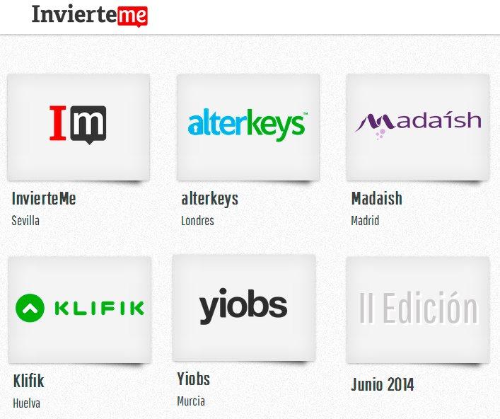 Primera edición del programa de aceleración de startups de InvierteMe Ventures