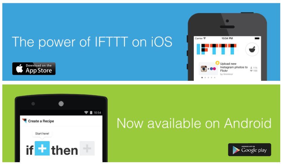 Llegó IFTTT para android