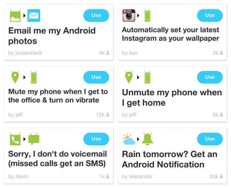6 magias que IFTTT puede hacer en tu android
