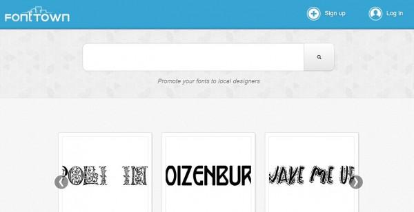 fonttown, para encontrar y organizar nuestra tipografía preferida