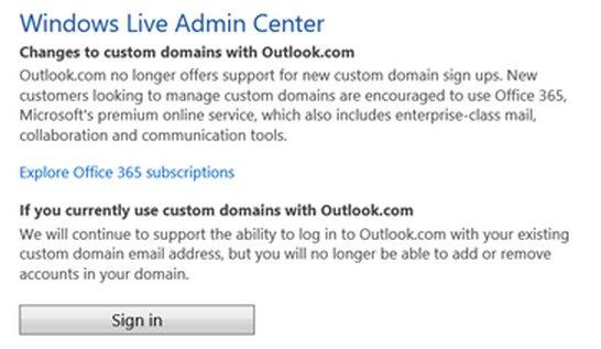 Microsoft deja de ofrecer el servicio de email gratuito con dominio propio