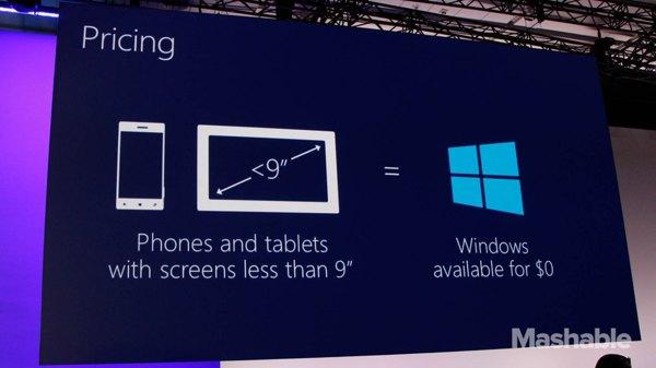windows gratis nueve pulgadas