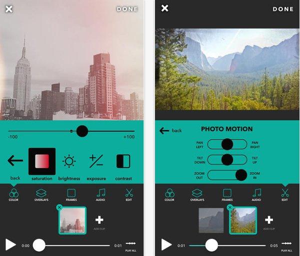 Videohance iOS editor videos