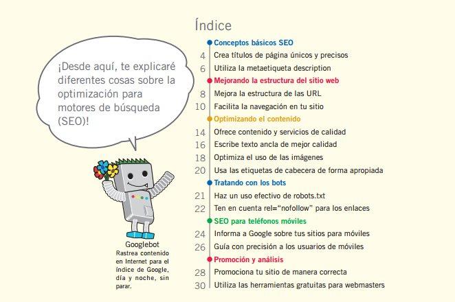 Guías SEO que vale la pena consultar, en español y PDF