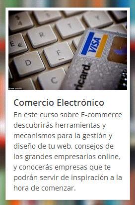 Curso online y gratuito sobre Comercio electrónico