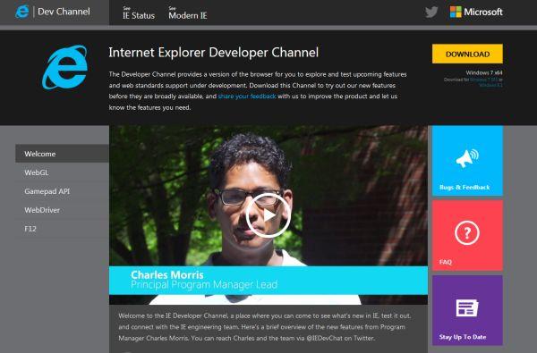 IE Developer Channel