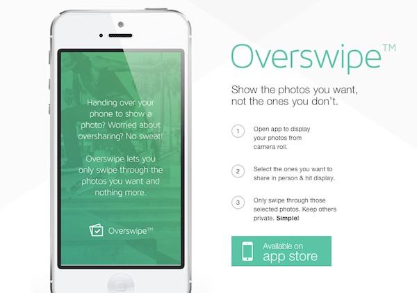 Overswipe, aplicación para iOS que permite ocultar fotografías