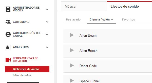efectos de sonido libres youtube