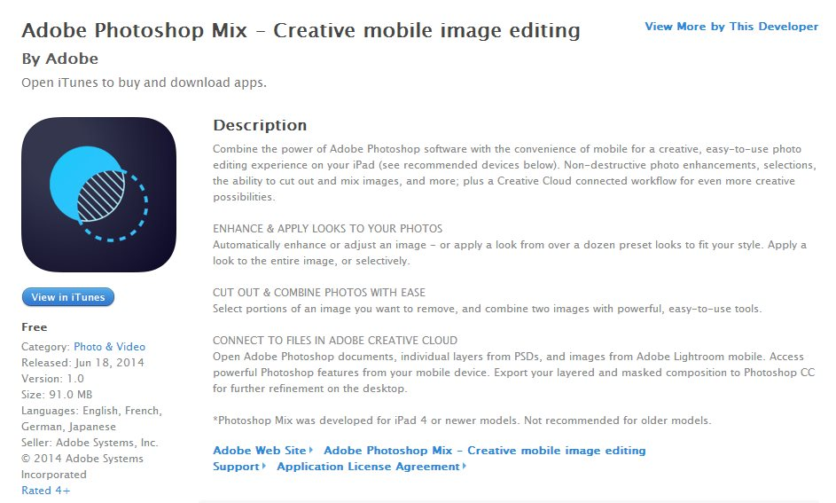 Adobe presenta Photoshop Mix, para hacer montajes con fotos [iPad]
