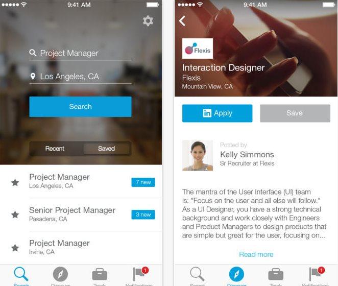 Linkedin lanza aplicación para buscar empleo