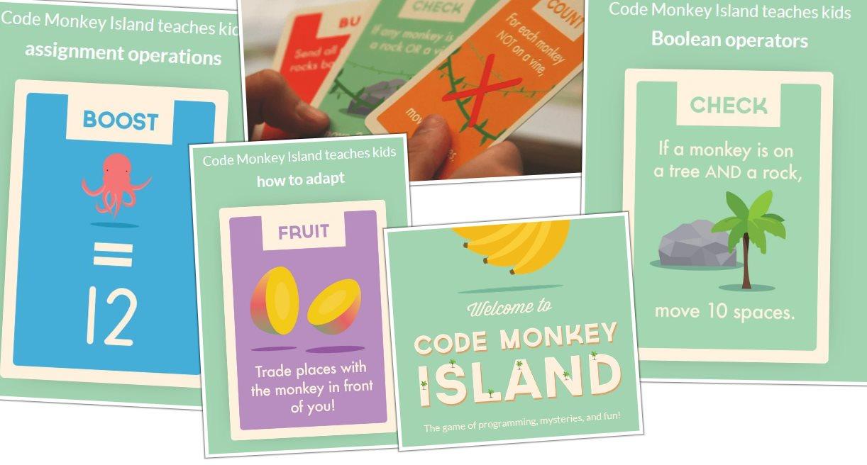 Code Monkey Island, un juego de mesa que enseña a los niños a programar