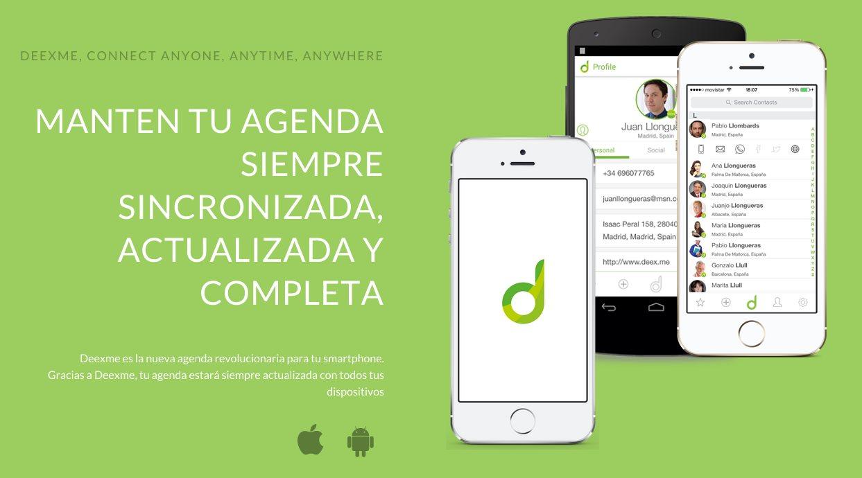 Nueva versión de Deexme, para mantener la agenda actualizada, con versión para iOs y android