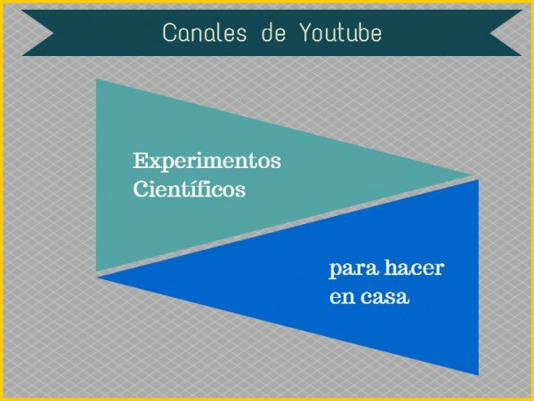 Experimentos científicos caseros para niños. 6 canales en Youtube, en
