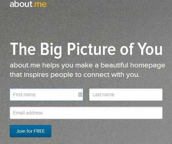 11 millones de dólares para About me, para construir nuestro perfil en la web