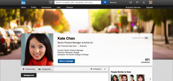 Fondo premium de LinkedIn
