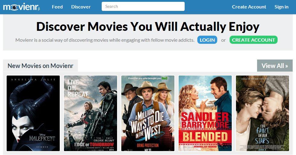 Movienr, encontrando películas por temas, género, sitio o período