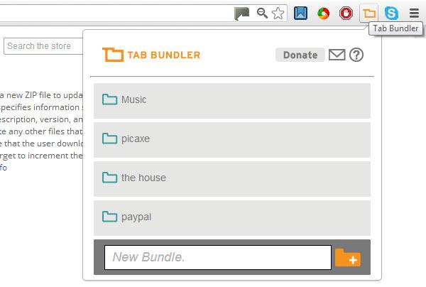 Tab Bundler, para organizar las pestañas abiertas en Chrome