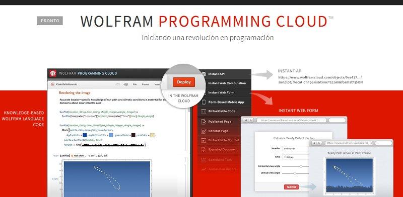 Ya es posible desarrollar aplicaciones en la nube con Wolfram Programming Cloud