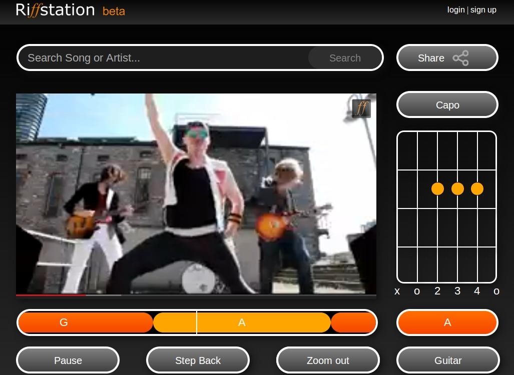 riffstation, aplicación que calcula los acordes de cualquier canción de YouTube