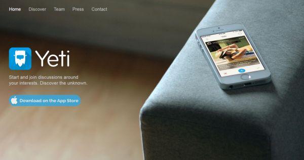 Yeti Chat, nueva aplicación móvil para unir a usuarios en conversaciones sobre temas afines [iOS]