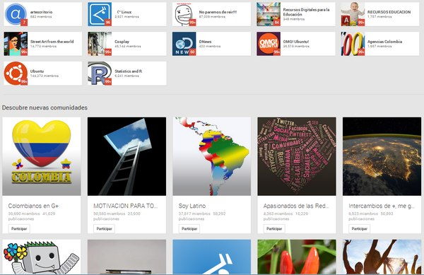 comunidades google plus