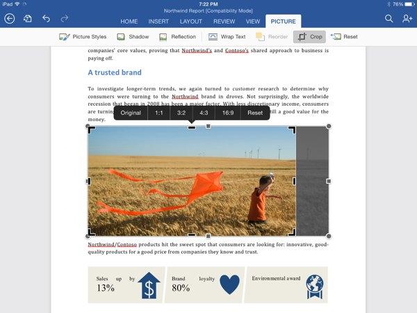 Office para iPad se actualiza con exportación a PDF, modo Presentador, edición de tablas dinámicas y más