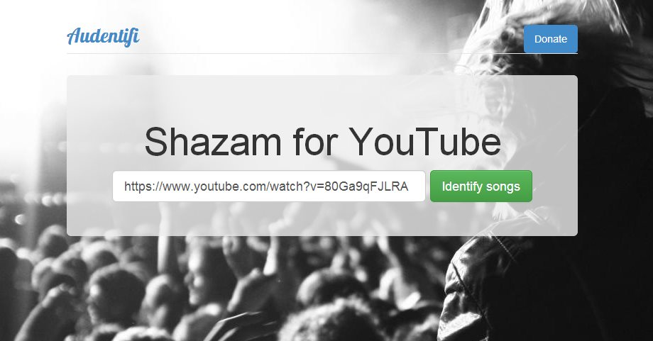 audentifi, una aplicación que identifica músicas en vídeos de Youtube
