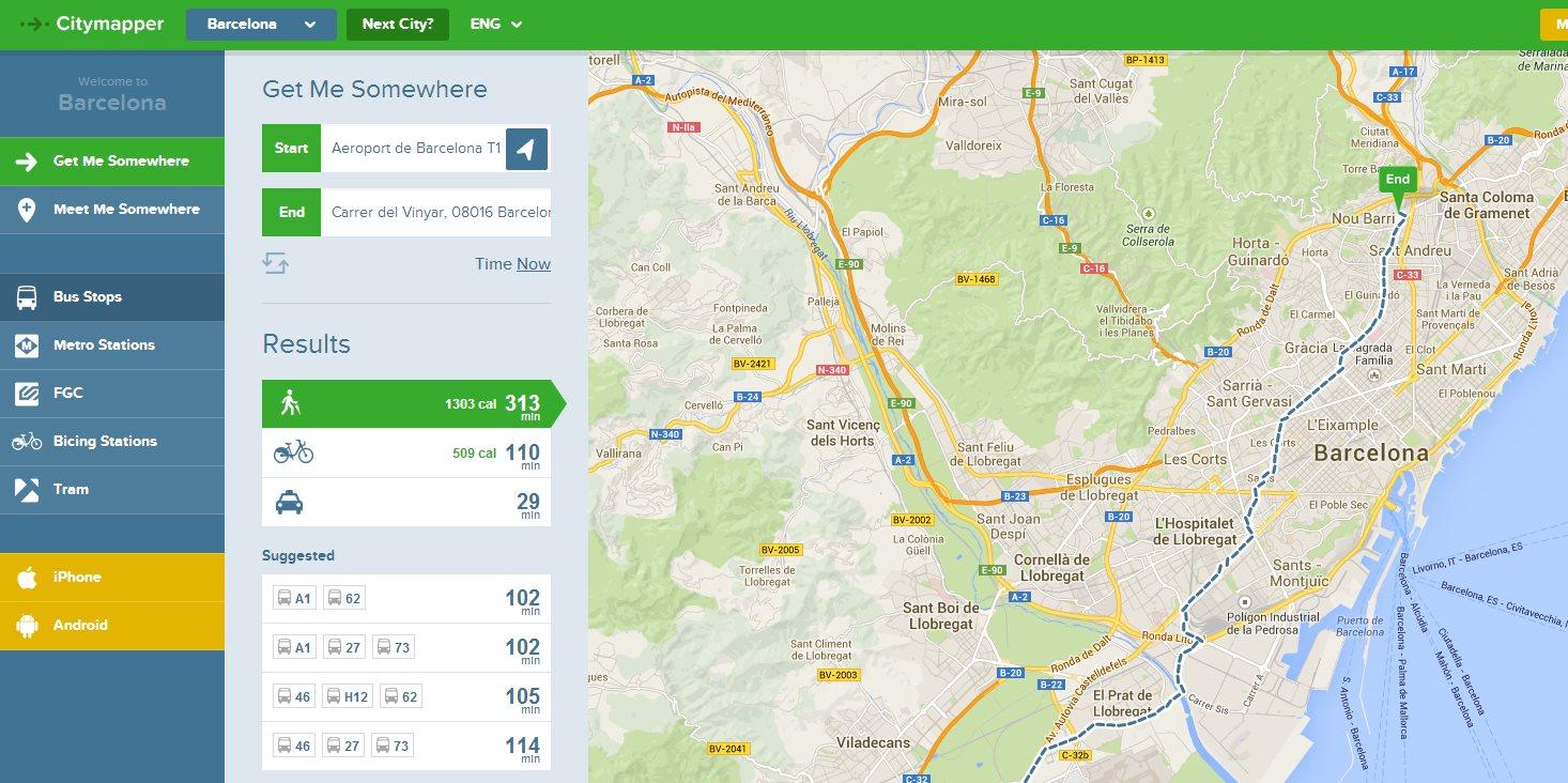 Hablamos con CityMapper, el servicio de mapas de Madrid, Barcelona y otras ciudades del mundo
