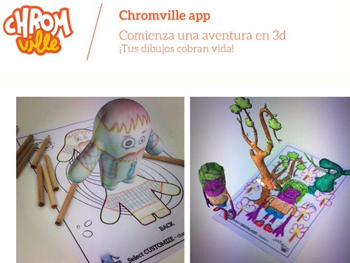 Chromville, aplicación de realidad aumentada para niños