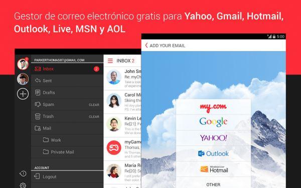 Algunos clientes de correo electrónico multicuenta para dispositivos Android
