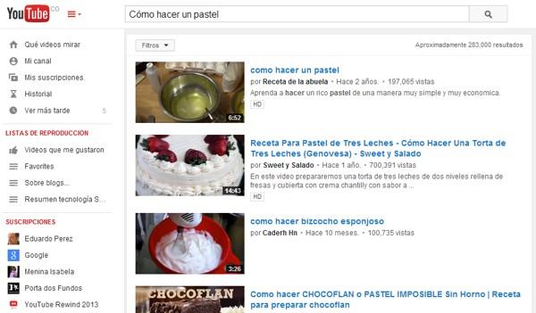 busqueda youtube