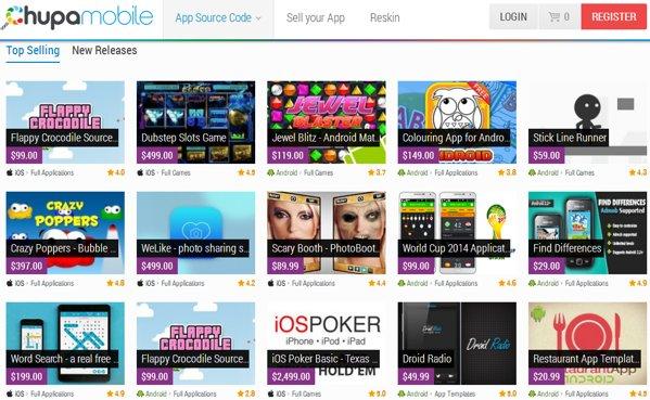 chupamobile comprar vender templates juegos
