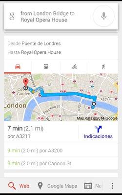 direcciones busqueda google