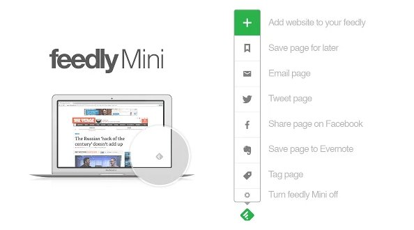 feedly mini extension chrome barra