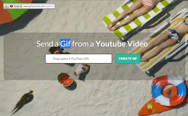 """Convierte cualquier vídeo de YouTube en un GIF animado añadiendo """"gif"""" a la URL"""