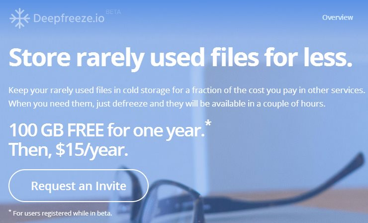 deepfreeze, una solución barata para almacenar en la nube archivos que casi no usamos