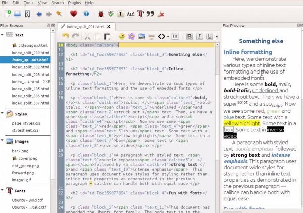 Nueva versión de Calibre añade editor y comparador de libros
