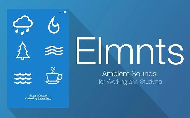 Elmnts, una extensión chrome para crear sonido ambiental sin necesidad de Internet