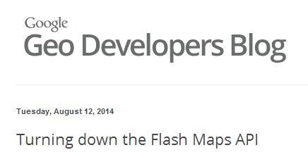 Google cierra la API de Google Maps para Flash
