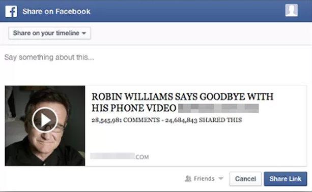 Vídeo falso de despedida de Robin Williams, nueva amenaza circulando por Facebook