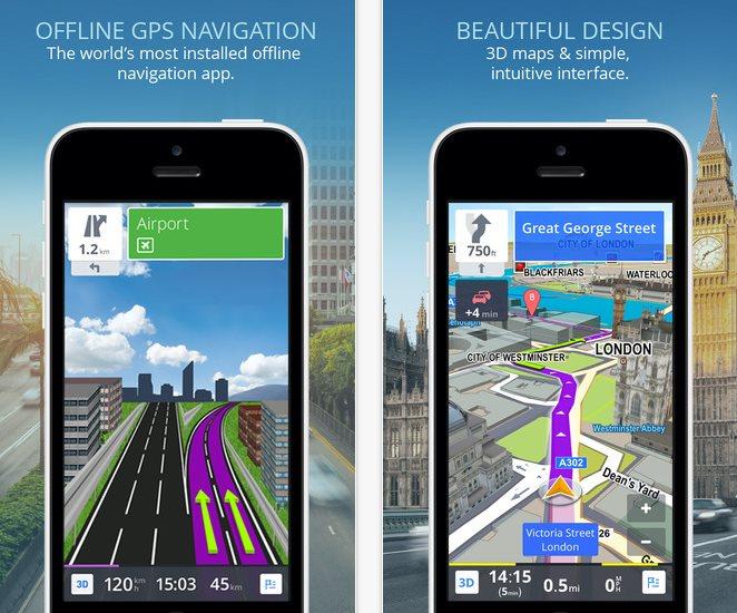 Sygic, un navegador GPS con mapas TomTom Offline, planeador de rutas y actualizaciones de mapas gratuitas
