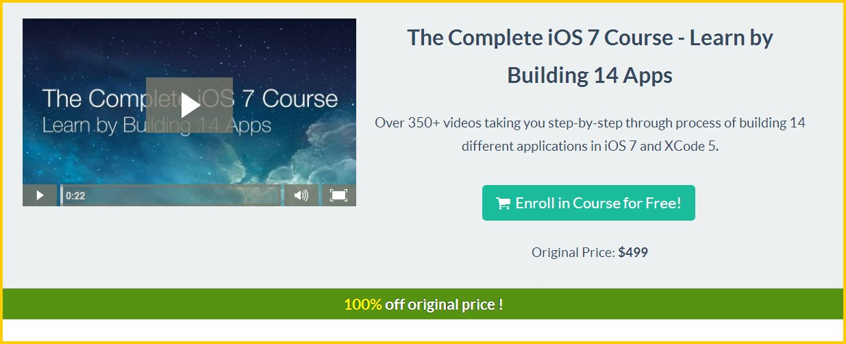Un curso con más de 350 vídeos para aprender a programar para iOS, ahora gratis