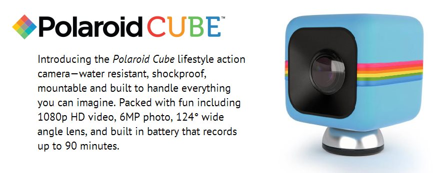 Polaroid lanza Cube, compitiendo con GoPro
